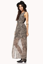 Forever 21 tiger print maxi dress