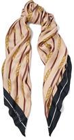 Balenciaga Printed Silk-twill Scarf - Beige