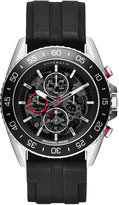 MICHAEL Michael Kors 45mm JetMaster Silicone Watch, Silver/Black/Red