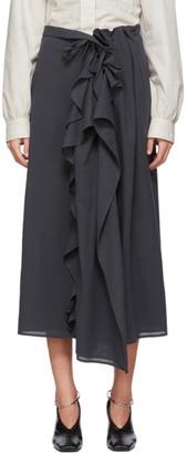 Lemaire Grey Ruffle Skirt