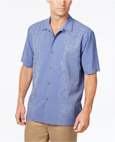 Tommy Bahama Men's Verdara Vines Floral-Embroidered Silk Short-Sleeve Shirt