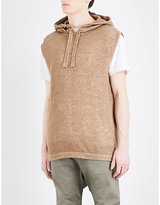 Maharishi Sleeveless Fishtail Cotton Hoody