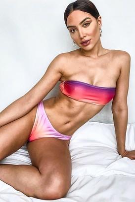 boohoo Ombre Bandeau Bikini