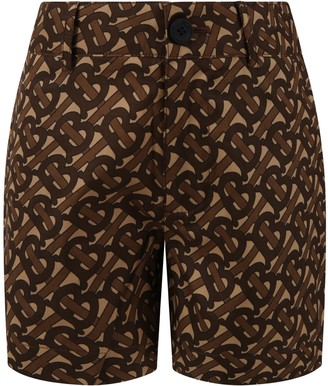 Burberry Beige Short For Boy With Logos