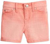 Celebrity Pink Faded Colored Denim Shorts, Big Girls (7-16)