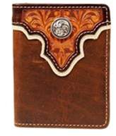Ariat A3510408 Top Concho Overlay Bi-Fold Wallet, Tan - One Size