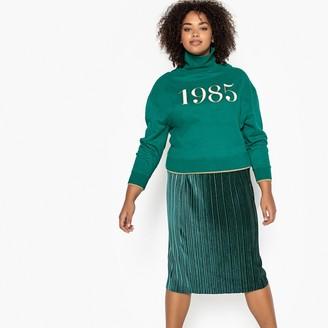 Castaluna Plus Size 1985 Print High Neck Sweatshirt