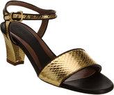 Metallic Snakeskin Sandal