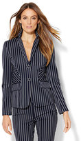 New York & Co. 7th Avenue Design Studio - Two-Button Jacket - Signature Fit - Navy Pinstripe - Tall