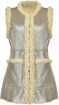 Pinko Metallic Sherpa Sleeveless Vest