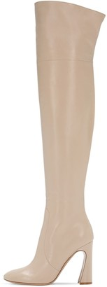 Gianvito Rossi 100mm Leather Over-The-Knee Boots