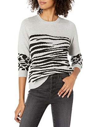 Lucky Brand Women's Mixed Animal Pullover Sweater