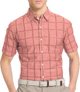 Izod Short-Sleeve Chambray Woven Button-Front Shirt