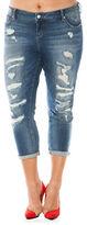 Slink Jeans Plus Rolled Boyfriend Jeans