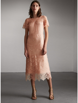 Burberry Tiered Lace Shift Dress