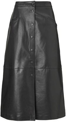 Baukjen Kara Button Skirt Black