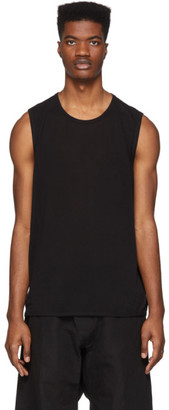 Jan-Jan Van Essche Black Washi Jersey Tank Top