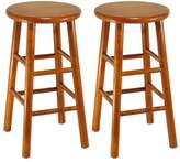 Winsome Wood Assembled Finish Kitchen Stools, Set of 2