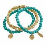 Natasha Accessories Natasha 3-pc. Gold-Tone Stretch Bracelet Set