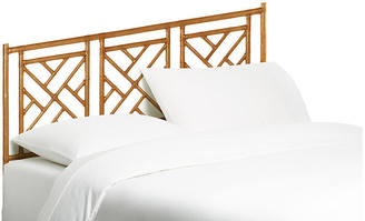 David Francis Furniture Chippendale Headboard - Camel Brown King