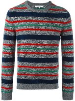 Carven striped crew neck jumper - men - Polyamide/Wool - L