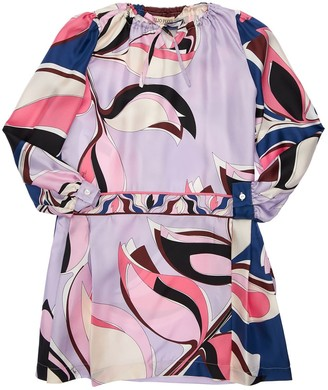 Emilio Pucci Eliconia Printed Silk Satin Dress