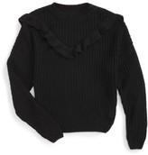 Blank NYC Girl's Blancnyc Ruffle Sweater