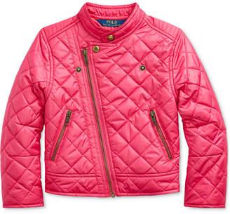 Polo Ralph Lauren Toddler Girls Quilted Moto Jacket