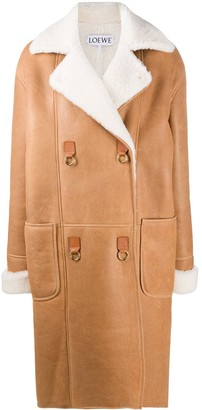Loewe Oversized Textured Double-Breasted Coat