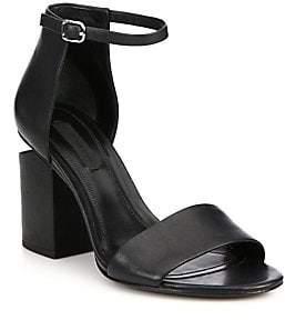 Alexander Wang Women's Abby Tilt-Heel Leather Ankle-Strap Sandals