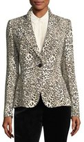 Escada Leopard-Print One-Button Blazer