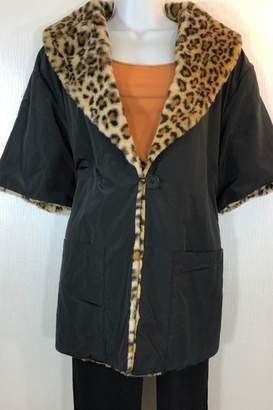 Katherine Barclay Reversible Leopard Coat