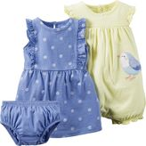 Carter's Baby Girl Dress & Romper Set