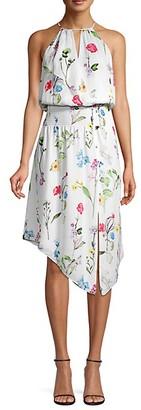 Parker Herley Smocked Waist High-Low Dress