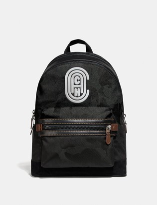 Coach Academy Backpack With Wild Beast Print And Reflective Patch