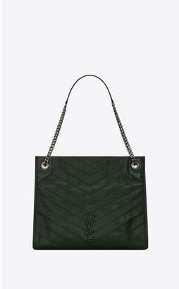 Saint Laurent Niki Medium Shopping Bag In Crinkled Vintage Leather