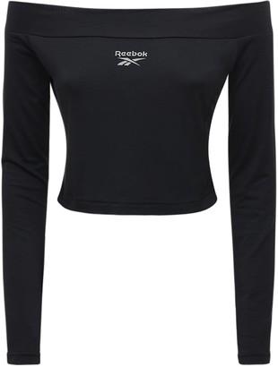 Reebok Classics Cl Off-The-Shoulder Cotton Crop Top