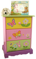 Flower Theme 3 Drawer Bedside Table