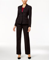 Le Suit Three-Piece Two-Button Pinstriped Pantsuit