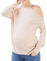Topshop MATERNITY Fine Gauge Cold-Shoulder Sweater