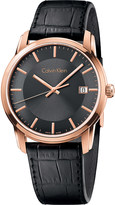 Calvin Klein K5S316C3 Infinite leather and stainless steel watch