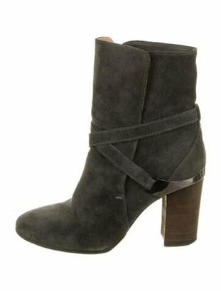 Lanvin Suede Boots Grey
