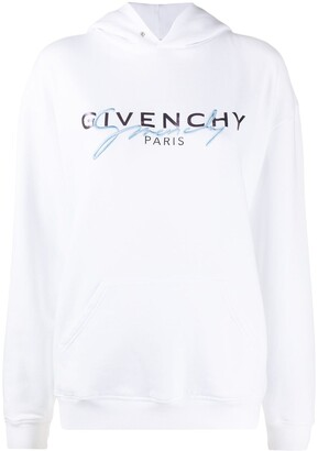 Givenchy Embroidered Logo Hooded Sweatshirt