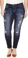LOVE INDIGO Love Indigo Patch Denim Skinny Jeans - Plus
