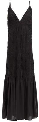 Mara Hoffman Keira Shirred Modal Maxi Dress - Black