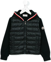 Moncler zipped jacket - kids - Cotton/Feather Down/Polyamide - 4 yrs