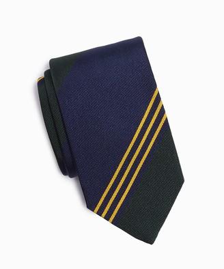 Drakes Multi-Stripe Repp Silk Tie