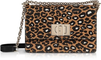 Furla Animal Printed Leather 1927 Mini Crossbody Bag 20