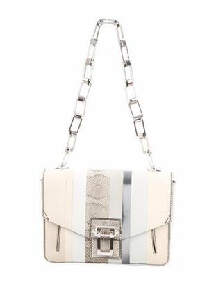 Proenza Schouler Snakeskin-Trimmed Hava Chain Bag Silver