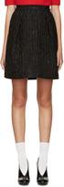 Carven Black Waffle Jacquard Skirt